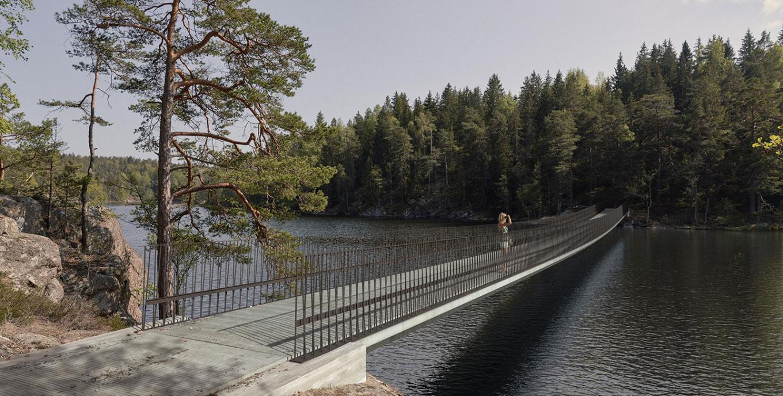 Gottlieb Paludan Architects skal designe ny bro og indgang til Tyresta Nationalpark i Sverige