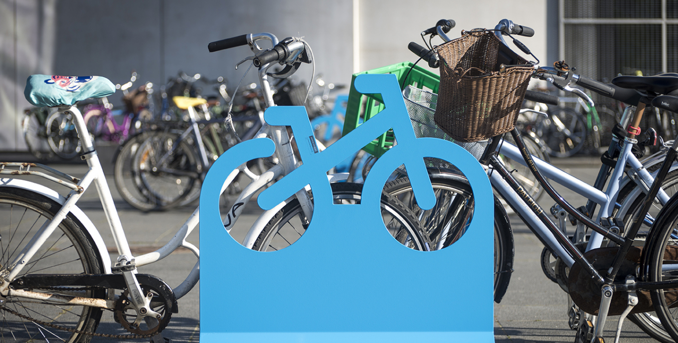 Portable city inventory for temporary bicycle parking