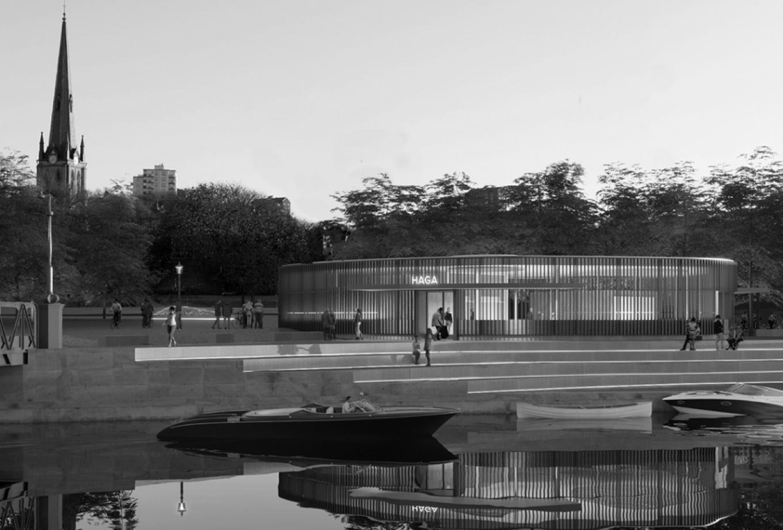 gottlieb_paludan_architects_haga_stationsomraade_fra_kanalen_kulturhistorisk_miljoe_byrum_stationsbygninger