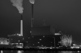 Trial lighting on Amager Power Station BIO4