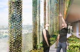 Grønne, lysende facader på Hamburgs nye energi-vartegn