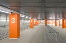 Tryg og attraktiv cykelparkering under Lyngby station