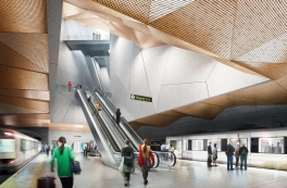 Gottlieb Paludan Architects vinner to t-banestasjoner i Oslo